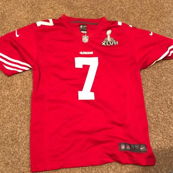 buy online 199d1 476b1 Nike #7 Colin Kaepernick Football Jersey